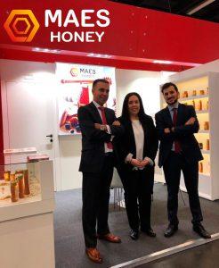 Stand de Maes Honey en a feria de alimentación ANUGA 2019