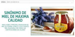 Nota de prensa. Maes Honey miel de máxima calidad.