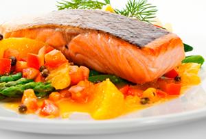 salmon-miel